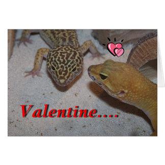 Un Gecko usted será la tarjeta de la tarjeta del d