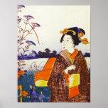 Un geisha del japonés Woodblock Ukiyo-E del agua Impresiones