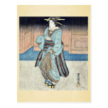 Un geisha en un paseo de la tarde por Utagawa, Toy Postales