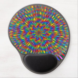 Un gel floral Mousepad del teñido anudado Alfombrillas De Ratón Con Gel