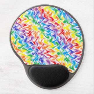 Un gel sucio Mousepad del arco iris Alfombrillas De Ratón Con Gel