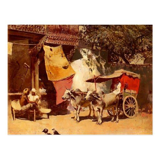 Un Gharry indio de señor Weeks de Edwin Tarjeta Postal