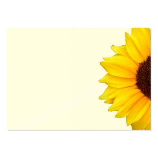 Un girasol soleado tarjetas de visita