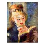 Un girl1 de lectura de Pedro Renoir Tarjeta Postal