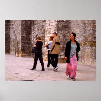 Un gitano, tres turistas, probabilidades desiguale impresiones