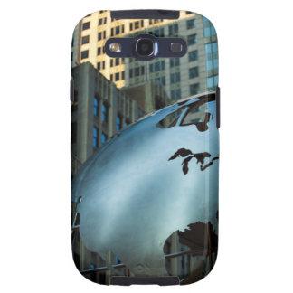 Un globo con un acero inoxidable Norteamérica Galaxy S3 Fundas