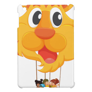 Un globo del tigre con una cesta llena de niños