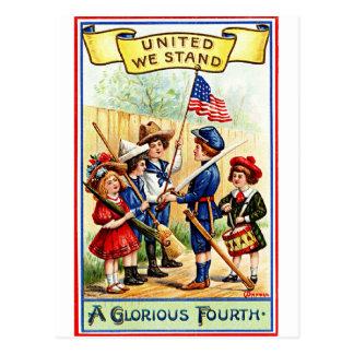 Un glorioso el 4 de julio tarjeta postal
