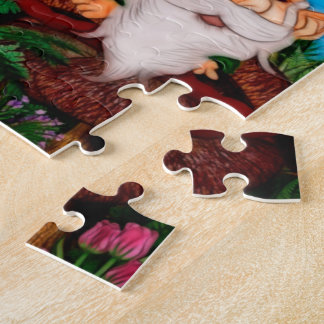 Un gnomo para mi arte de la fantasía del jardín puzzle con fotos