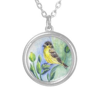 Un Goldfinch hembra lápiz de la acuarela Colgantes Personalizados