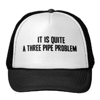 Un gorra del problema de tres tubos