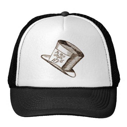 Un gorra enojado del sombrerero en sepia