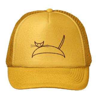 Un gorra marrón del gato