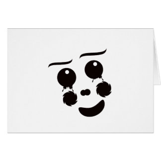 Un gráfico caprichoso del diseño de la cara del tarjeta pequeña