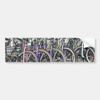 Un gran diseño de la bici pegatina para auto
