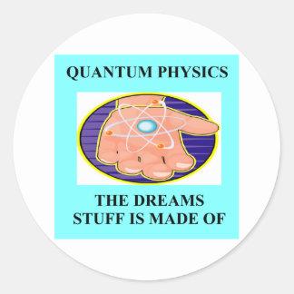 Un gran diseño de la física pegatina redonda