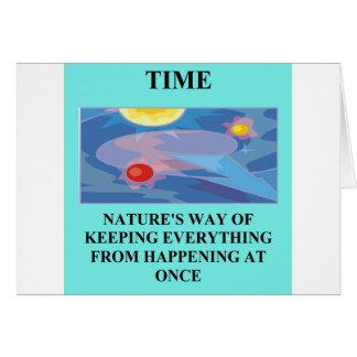 Un gran diseño de la física tarjeta de felicitación