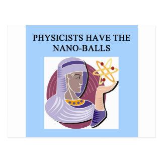 Un gran diseño de la física tarjeta postal