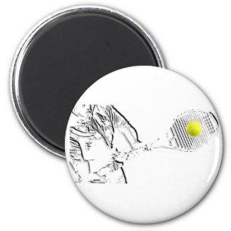 Un gran diseño del amante del tenis imán de frigorifico