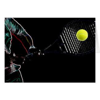Un gran diseño del amante del tenis tarjeta de felicitación
