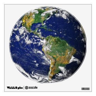 Un gran mundo grande de Marble_It azul hacia fuera Vinilo Adhesivo