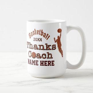 Un gran regalo a dar a su entrenador de béisbol taza básica blanca