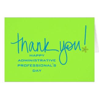 Un grande le agradece a los profesionales felicitacion