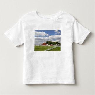 Un granero y una granja rojos en Pamona, Kansas Camisetas