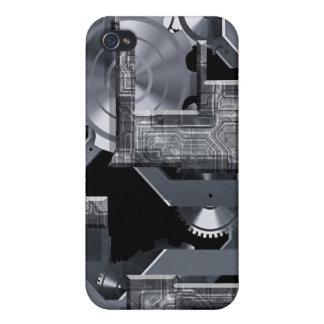 Un gris del mecanismo iPhone 4 funda