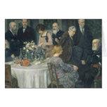 Un grupo de Artists, 1929 Tarjeton