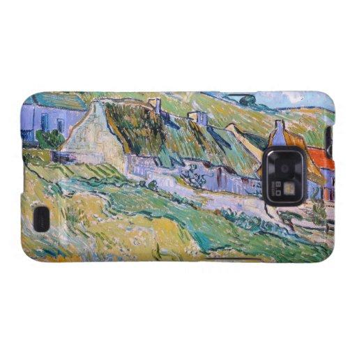 Un grupo de cabañas pintando de Vincent van Gogh Galaxy SII Carcasas
