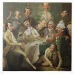 Un grupo de la caricatura, c.1776 (aceite en lona) azulejo ceramica