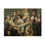Un grupo de la caricatura, c.1776 (aceite en lona) tarjetas postales