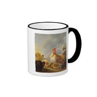 Un grupo de las aves del corral, 1643 tazas de café