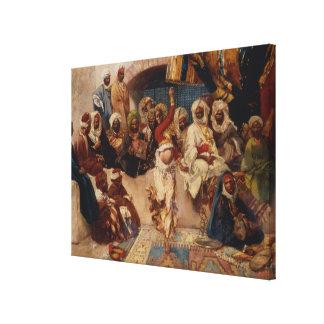 Un grupo interesado, 1883 (aceite en lona) impresión en lienzo