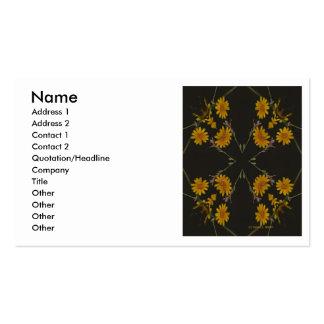 Un grupo repetido cruciforme de flores amarillas tarjetas de visita