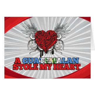 Un guatemalteco robó mi corazón felicitacion