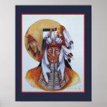Un guerrero del nativo americano impresiones