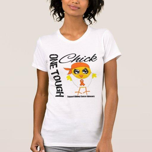 Un guerrero duro v2 del cáncer del riñón del pollu camisetas