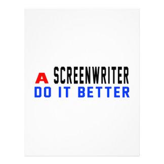 Un guionista mejora plantillas de membrete