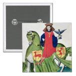 Un halconero, de Codex de Capodilista Pin Cuadrado