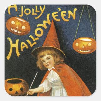 Un Halloween alegre Pegatina Cuadrada