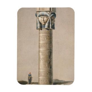 Un Hathor dirigió el pilar en Dendarah, ejemplo ' Imanes Flexibles