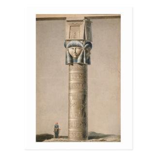 Un Hathor dirigió el pilar en Dendarah, ejemplo ' Tarjetas Postales
