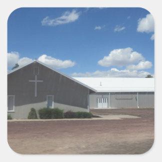 Un Heber, Az. Iglesia Pegatina Cuadrada