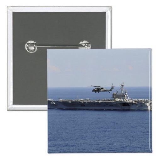 Un helicóptero de MH-60S Seahawk Pin Cuadrado