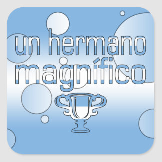 Un Hermano Magnífico Argentina Flag Colors Pop Art Square Sticker