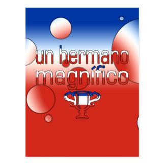 Un Hermano Magnífico Chile Flag Colors Pop Art Postcard