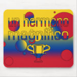 Un Hermano Magnífico Colombia Flag Colors Pop Art Mouse Pad