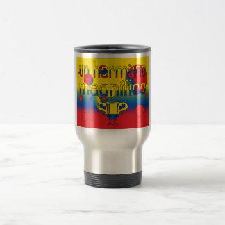 Un Hermano Magnífico Ecuador Flag Colors Pop Art Travel Mug